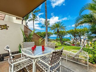 Maui Kamaole #H-109 Front Row Oceanview 1bd 2ba Steps from Kamaole III Beach