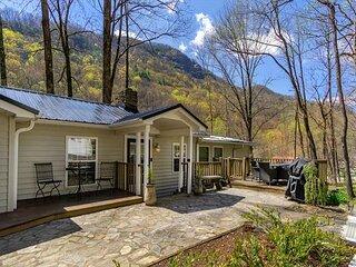 Rocky River Cottage at Chimney Rock | Main Street Location & Riverside Views!