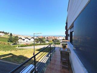 El Mirador de Luanco - Apartamento Lujo para 5 pax con terraza y plaza de garaje