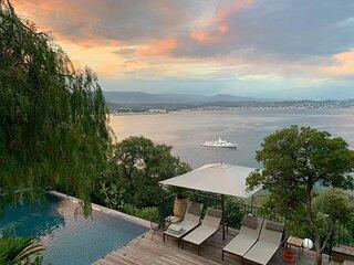 Villa-Magnifique vue mer180 degre-Piscine privee a debordement-Plage a 100 m
