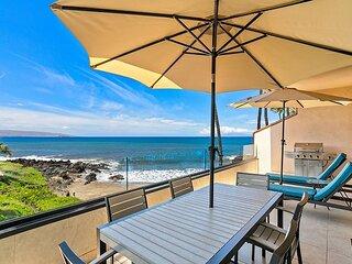 New Listing!  Oceanfront Bliss in the heart of Makena!  Makena Surf G-201
