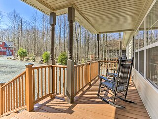 NEW! Picturesque Lake Ariel Getaway w/ Game Room!