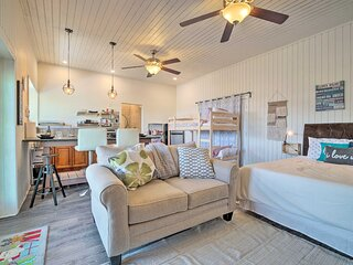 NEW! Pet-Friendly Studio w/ Kayak & Dock on Lake!