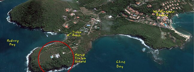 Morne Trulah:  Ultimate Caribbean Sanctuary—COVID-safe, Fully Staffed & Serviced, location de vacances à Rodney Bay