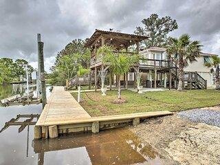Bay St. Louis House w/ Boat Dock on Breath Bayou!