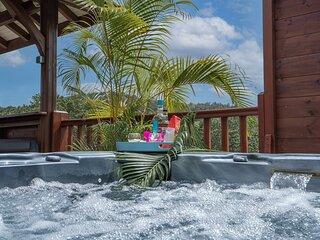 Lodge de charme, 1 chambre, Jacuzzi, Sud de l'île
