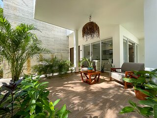 Stunning condo garden with private terrace and pool facilities in Tulum