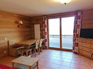 Tres agreable appartement vue montagne, 8 pax, Pra Loup