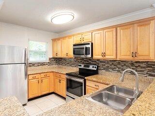 Family-Friendly Villa Two Miles from Disney w/ Resort Pool, Full Kitchen & WiFi