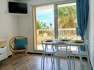 Charmant Appartement T2 PORT DE GRUISSAN 4 personnes  4THAL104