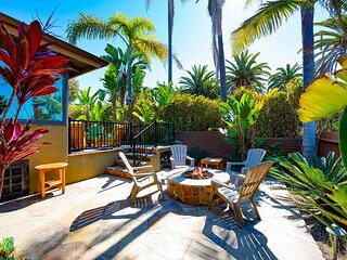 Oceanfront Gem | Fire Pit, Grill & Alfresco Dining | Walk to Terra Mar Beach