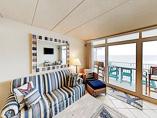 Ocean-View Escape at El Capitan | 2 Balconies, Pool | Walkable Locale