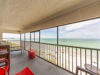 Sweeping Gulf Views from Direct Beachfront Corner Unit - Arie Dam 401