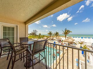 Direct Beachfront Unit - Free WiFi - Sweeping Gulf & Beach Views