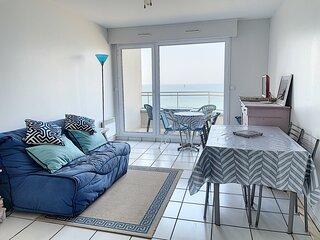 En front de mer avec balcon, 4 pers. proximite directe plages et commerces