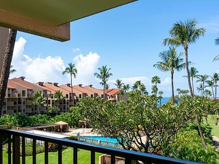 Kamaole Sands #5-313, 1 Bd Idyllic Ocean Courtyard View, Across from Beach