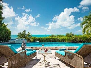 Incredible Views, Swim Platform, Pool, & Oceanfront Gazebo at this Getaway!