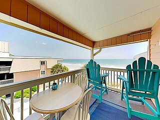 New Listing! Choice Oceanfront Escape w/ Pool & Private Porch - Steps to Sand