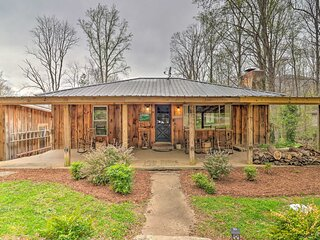 NEW! Maggie Valley Retreat w/ Hot Tub + Fire Pit!
