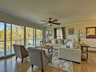 NEW! Modern Lakefront Oasis w/ Private Dock & Yard