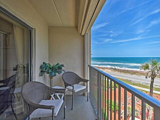 NEW! Oceanfront Ormond Beach Getaway w/ Balcony!