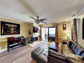 Forest Shores Lakefront Village Condo | 3 Water-View Decks | Pool & Hot Tub