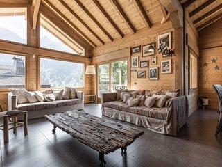 Chalet 4*, 5 chambres, vue imprenable, hammam, cheminee, garage, WIFI