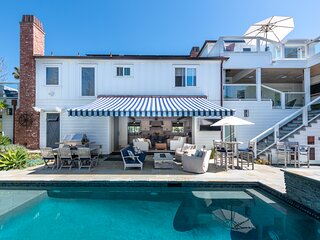 New Luxury Home on Double-Lot w/ Heated Pool, Spa & Yard, Easy Stroll to Beach