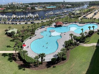 Waterway and Marina Views from this Great Condo! Golf in Barefoot Too!