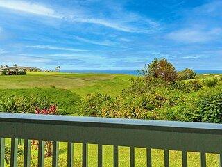 Puamana 16B-great ocean view, walk to Anini Beach,quiet complex