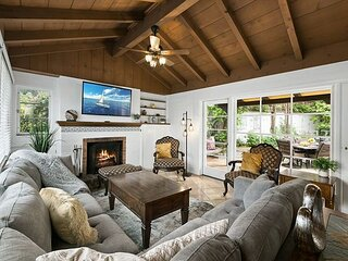 Iconic La Jolla Adobe Home | Private Hot Tub | Secluded Courtyard Firepit