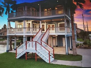 Newly Listed Bay Front Water View & Fishing Pier - Deck View of Kemah Boardwalk