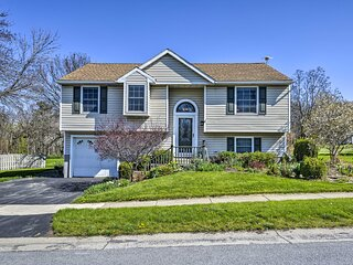NEW! Comfy Romulus Home w/ Deck - Walk to Beach!
