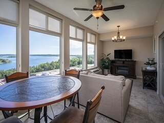 Unwind at the Majestic! Lake View Condo with Sunroom & Balcony