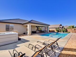 Elegant Oasis Home in Hurricane with Private Pool & Hot Tub