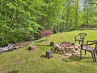 NEW! Creekside Home w/ Fire Pit, < 15 Mi to Hiking