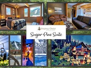 PINETREE CHALET Sugar Pine Suite: 2 Bdrm; ski-in; walk to village; hot tub; view