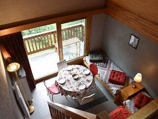 Appartement studio mezzanine 5 personnes MERIBEL