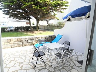 Appartement 2 pieces 4 personnes avec WIFI a 50 m de la plage du Couregant