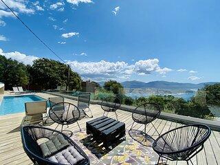 Villa Julea, vue mer piscine chauffée