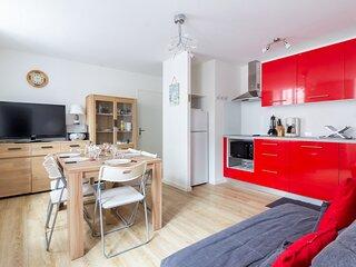Appartement bien équipé avec deux chambres en centre ville
