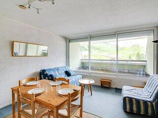 Studio cabine 5 personnes vue pistes, résidence Mongie Hebdo
