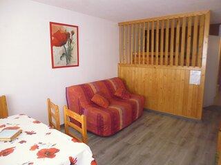 Studio cabine (semi ouverte) 4 personnes, résidence Mongie Tourmalet