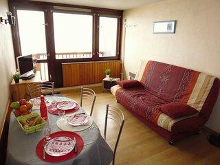 Studio 4 personnes  pièce unique , résidence Mongie Tourmalet