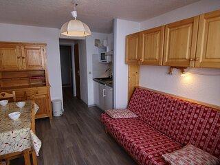 Studio cabine 21.5 m² orienté SUD, classé 2**