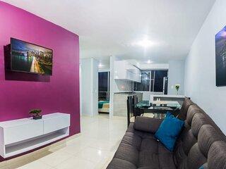 Bello Apartamento Cerca al Parque del Cafe, Piscina, Jacuzzi y Turco