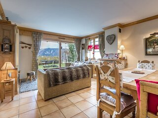 Cosy, 3 chambres, belle terrasse, cheminee, garage