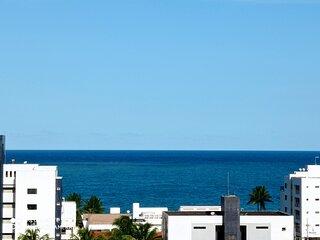 ⭐ Apartamento para 8 pessoas a 100 metros da praia (805 Camboinha)