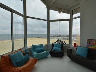ARCACHON, en 1ère ligne, acccès direct plage, magnifique T3Cabine en duplex au