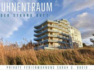 1.Reihe Appartement direkt am Strand m. Meerblick, W-Lan, Parkplatz
